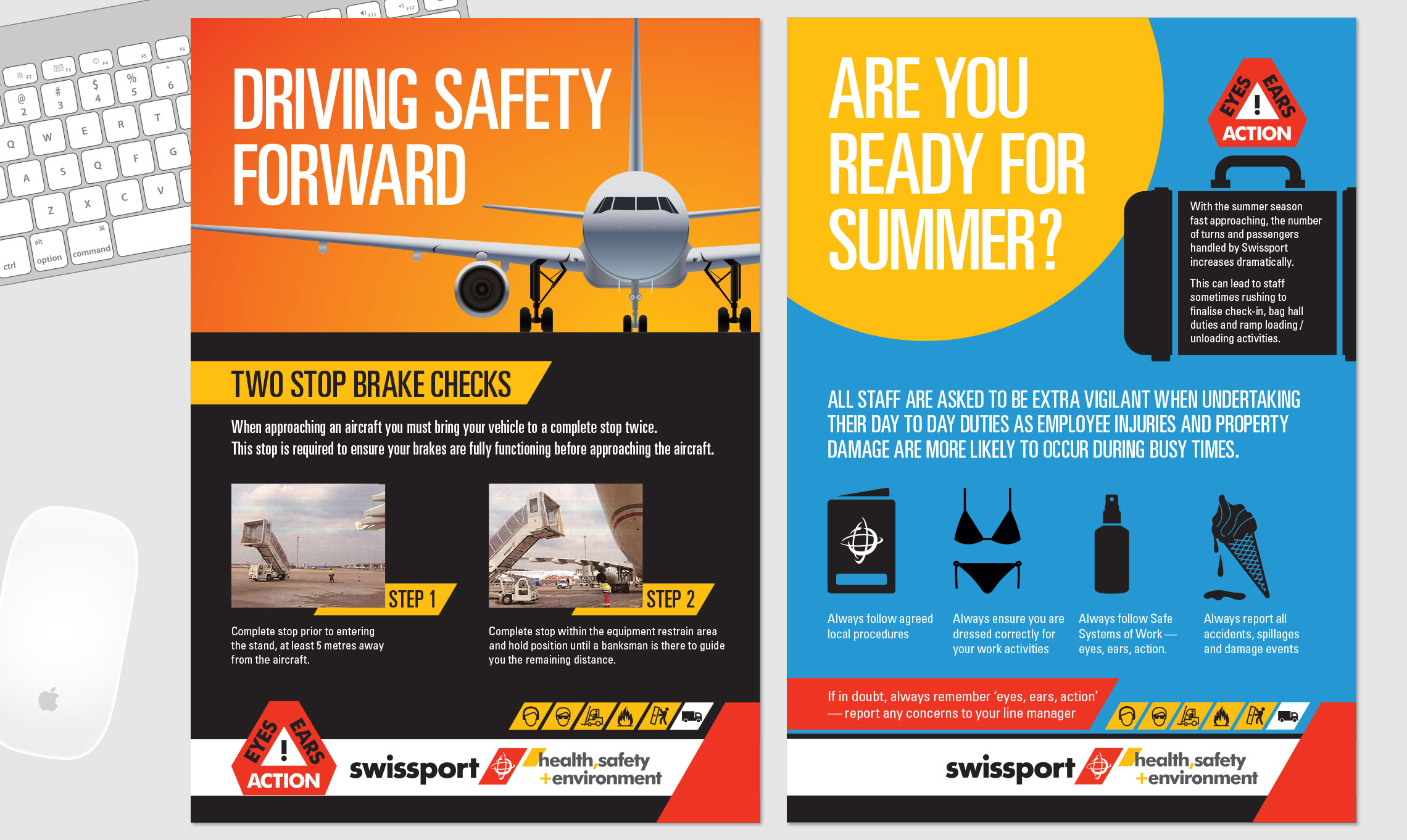 Swissport Health Safety Poster Branding And Campaign 5 Chemical