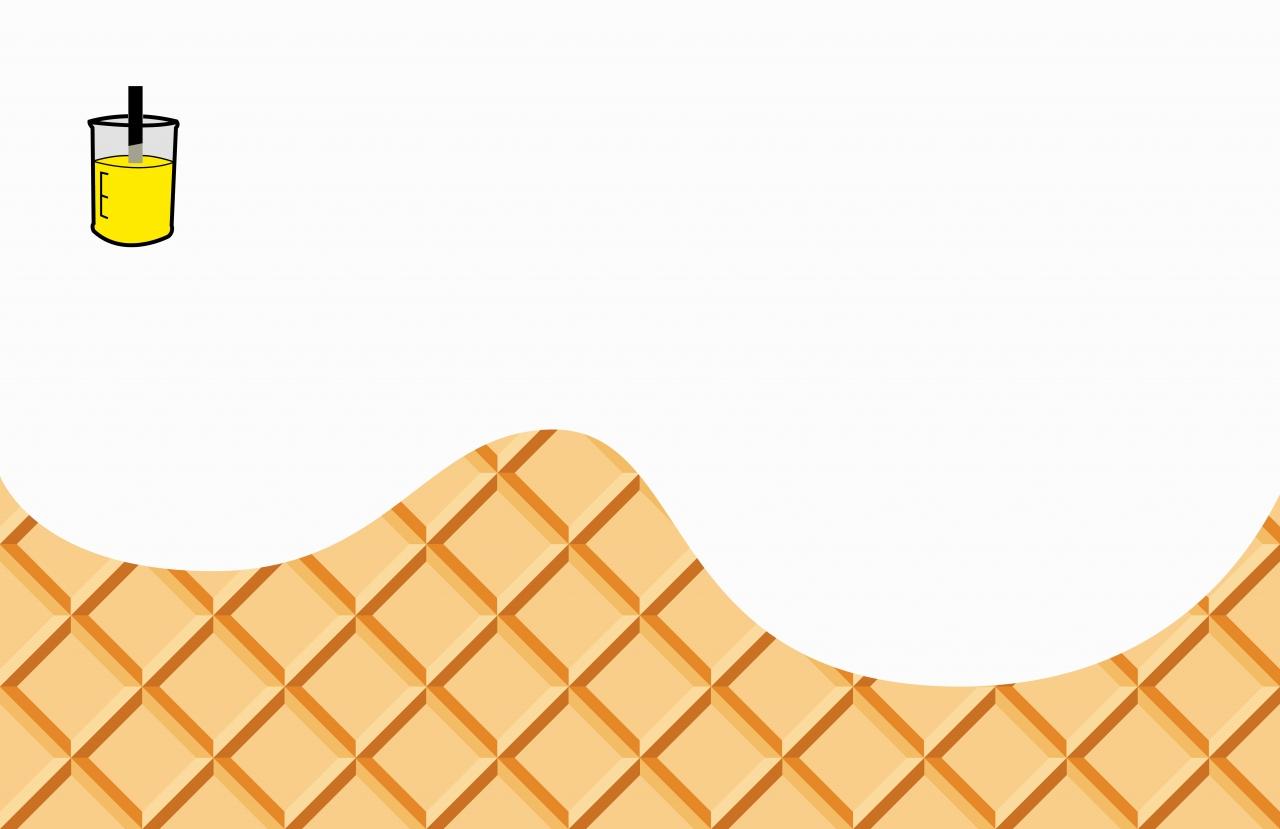 Cartoon Vanilla Ice Cream and Cone